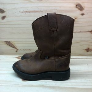 Justin Leather Boots. Kids size 10
